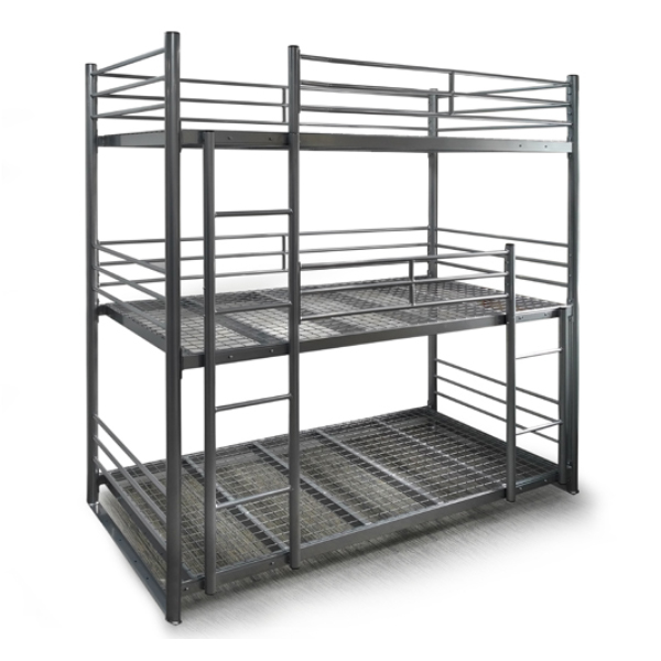 ultra heavy duty triple bunk bed better bunk beds store. Black Bedroom Furniture Sets. Home Design Ideas